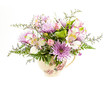 Flower arrangement on white