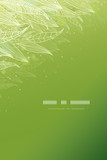 Vector green glowing leaves vertical template background with