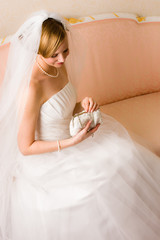 Bride and purse