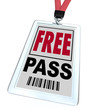 Free Pass - Lanyard and Badge