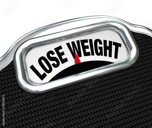 Lose Weight Words Scale Overweight Losing Fat