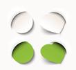 new circle and heart shaped tag