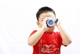 Little Boy Drinking from Mug
