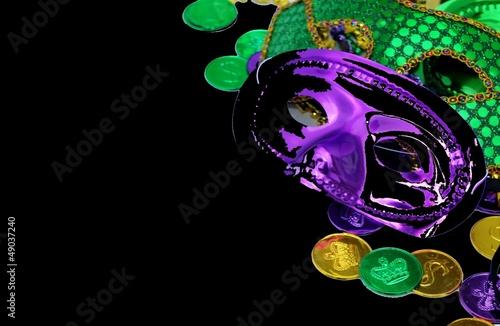 Aluminium Carnaval Mardi Gras masks