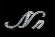 Script Diamond Bling Nn Letters