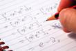 Work on a mathematics question
