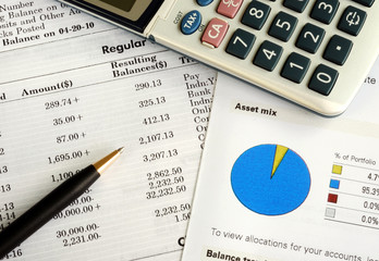 Balance the investment portfolio and check the account statement