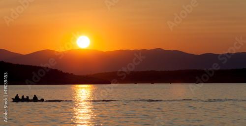Bootstour beim Sonnenuntergang