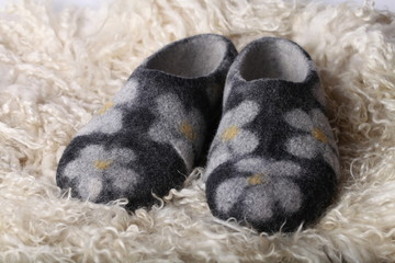 Wool slipper