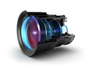 Sectional camera lens