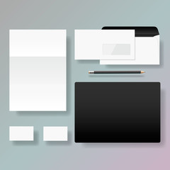 Set of corporate identity style template design