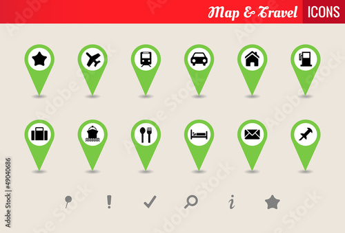 Map & Travel Vector Icon Set