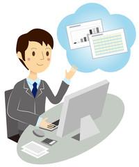 ビジネスマン 資料・提案