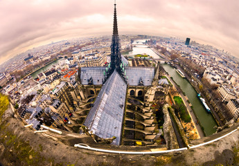 View of paris from Notre Dame, France