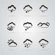 set of grey weather icons