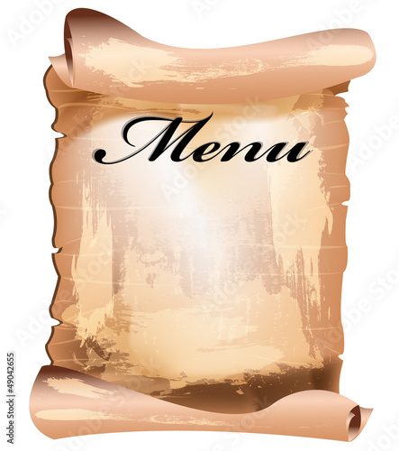 Menu cafe and restaurant on a white background.Vector