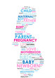 PREGNANCY Tag Cloud (pregnant woman maternity birth mother baby)