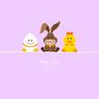 Egg, Bunny & Duck Purple
