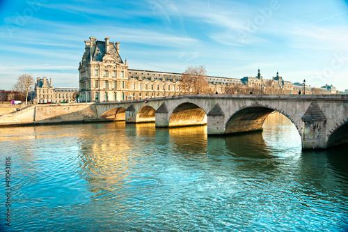 Musée du Louvre et Pont du Carrousel, Paris - France Poster