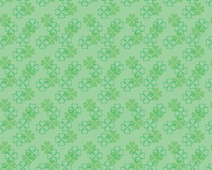 seamless pattern for St. Patrick's Day with shamrock leaves