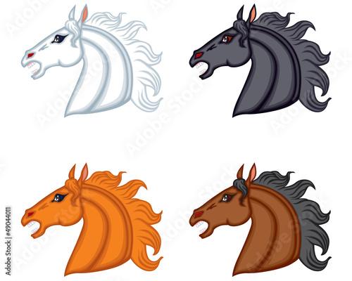 Set horse head