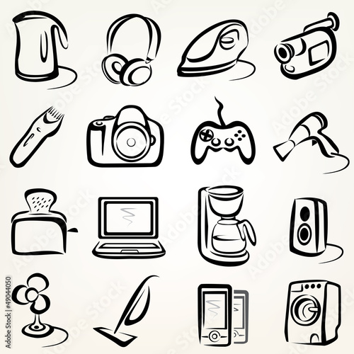 electric goods icons