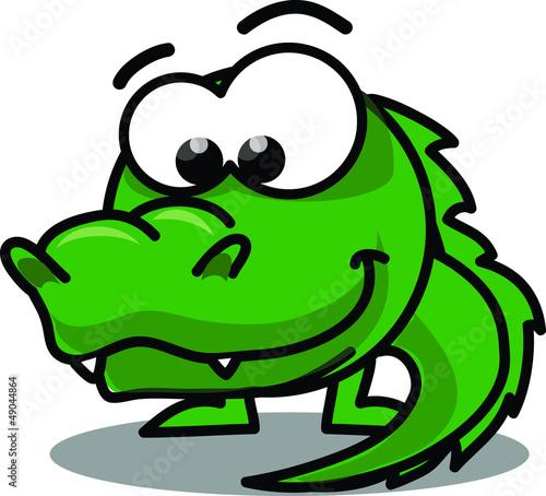 Крокодил мультфильм вектор