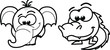 Мультфильм животных вектор