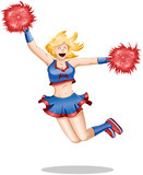 Cheerleader Jumps In The Air