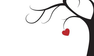 Baum mit Herz isoliert