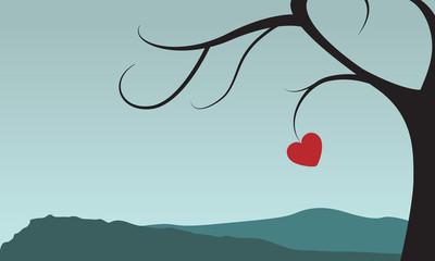 Baum mit Herz