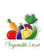 Мультфильм овощи, фон