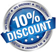 "Button Banner ""10% Discount"" blau/silber"