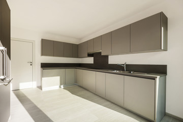 modern architecture, new apartment, interior kitchen