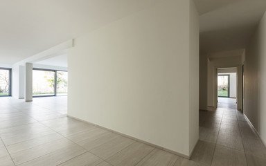 modern architecture, new empty apartment, interior