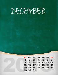 Vertical calendar 2013 year