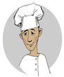 Chef cook cartoon face