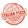 Stamp, with the text Italian Pizza written inside, vector