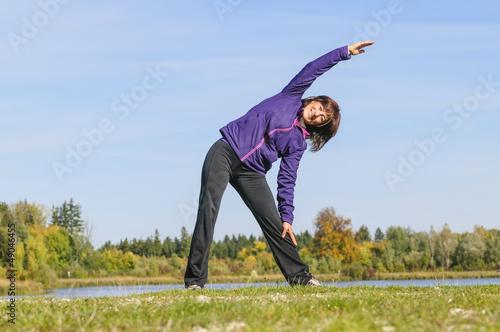 Stretching in frischer Luft