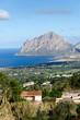 promontorio di San Vito Lo Capo visto da Erice in Sicilia