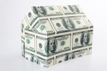 Haus aus Dollarscheinen