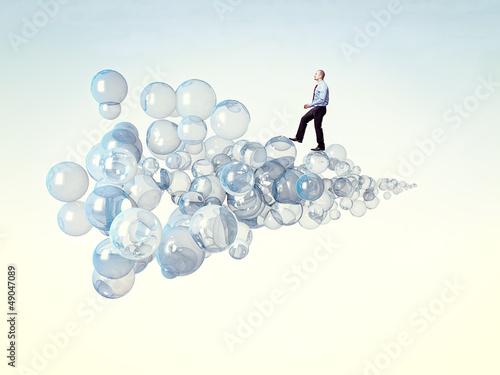 walk on a bubbles