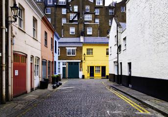 Cobbled street in London