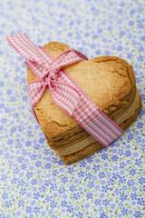 sablés de la saint valentin, forme coeur