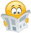 Emoticon with newspaper