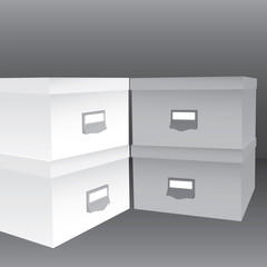 3d illustration of closed boxes