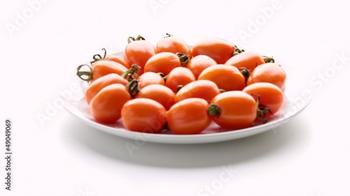 Tomatoes on a plate. Part 1