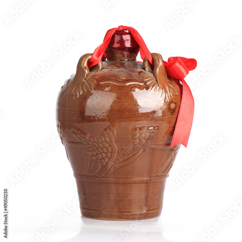 rice wine in the ceramic jar
