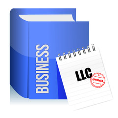 Approved stamp on a llc corporation legal document