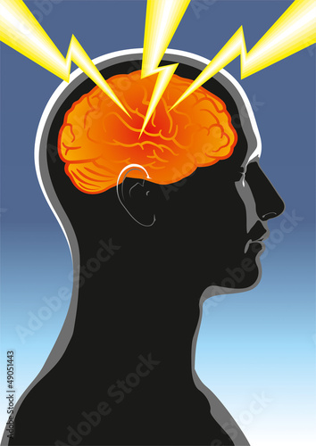 The symbolic image of mental health or human headache